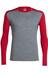 Icebreaker Oasis - Sous-vêtement en laine mérinos Homme - gris/rouge